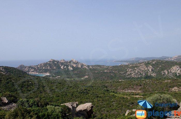 Il litorale di Sartène visto dal colle di Roccapina - Corsica