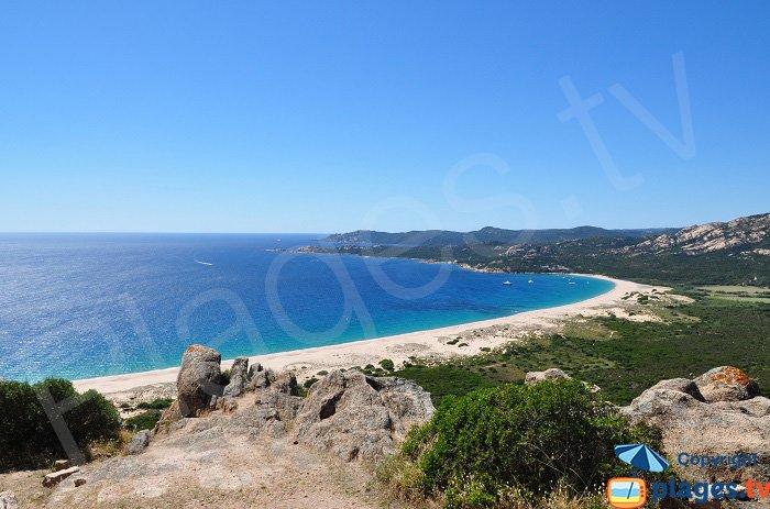 La baia d'Erbaju vista dal rocher du Lion - Corsica