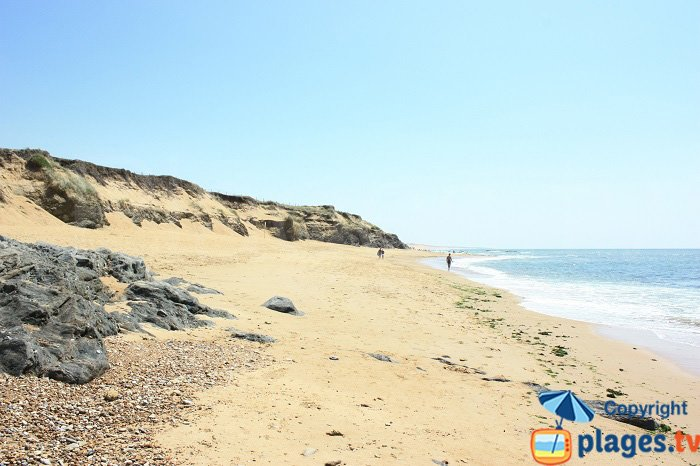 The untamed beach of Sauveterre - France