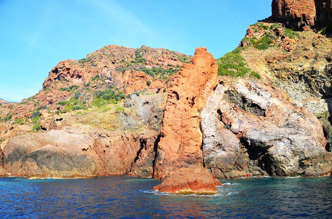 Lava flow in the reserve of Scandola in Corsica