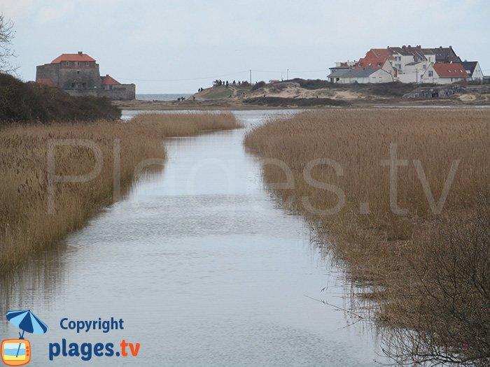 La slack et le fort par de grandes marées