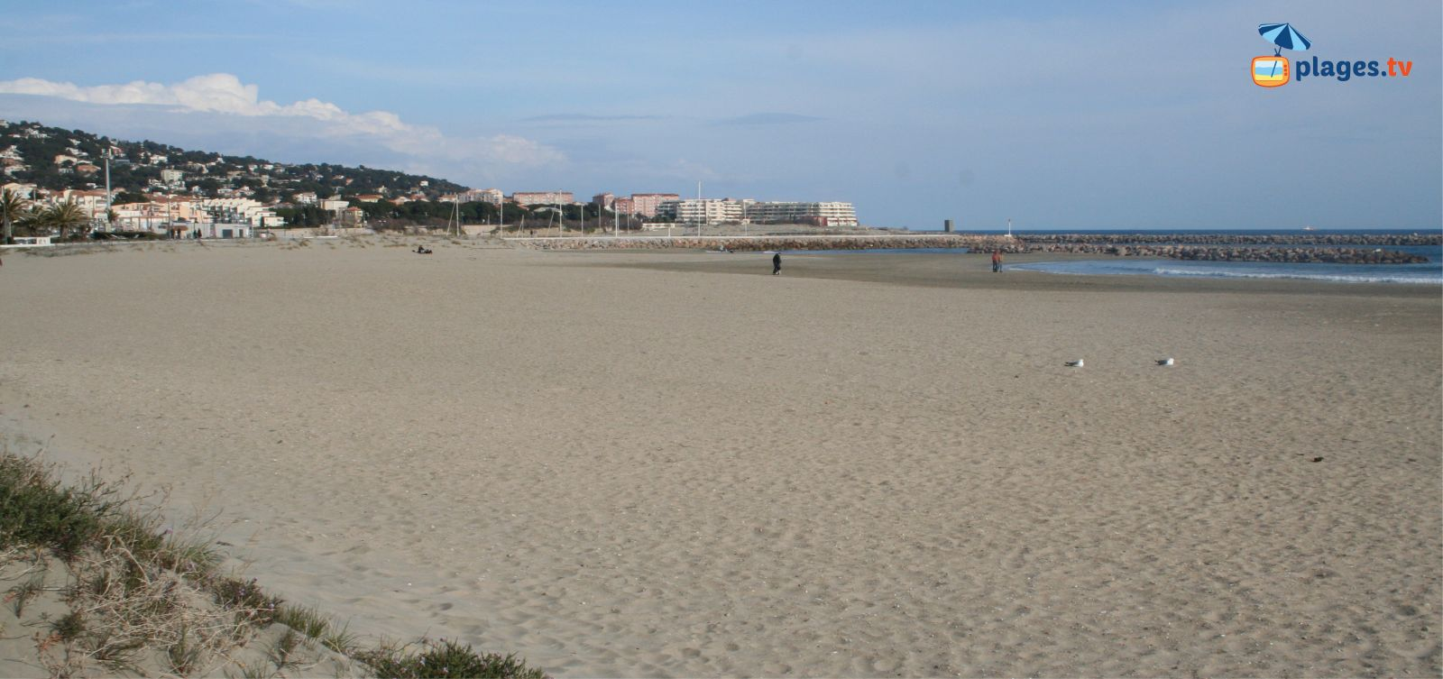 Grande plage de la fontaine à sète