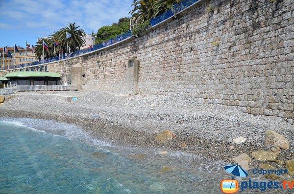 Spiaggia pubblica vicino Spiaggia Castel - Nizza