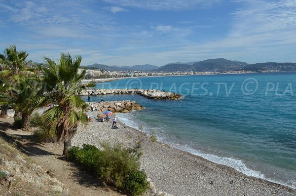Lanterne beach and bay of Nice