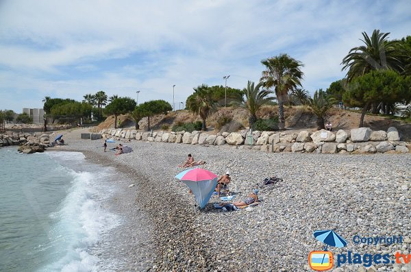 Photo of the Lanterne beach in Nice
