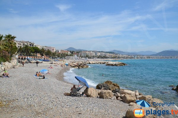 Lanterne beach in Nice in France