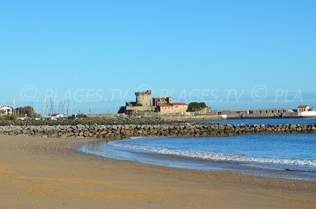 Fort de Socoa depuis la plage