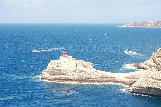 Lasciando il porto di Bonifacio