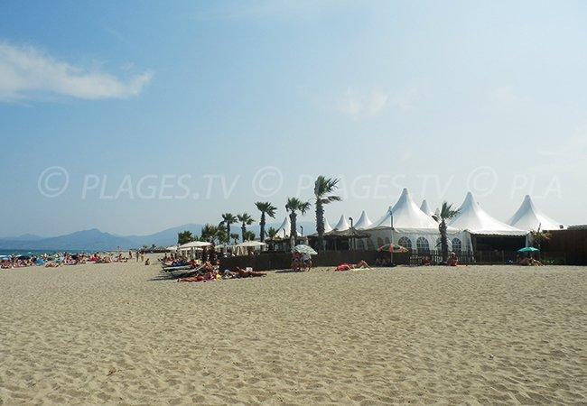 private beach in St Cyprien