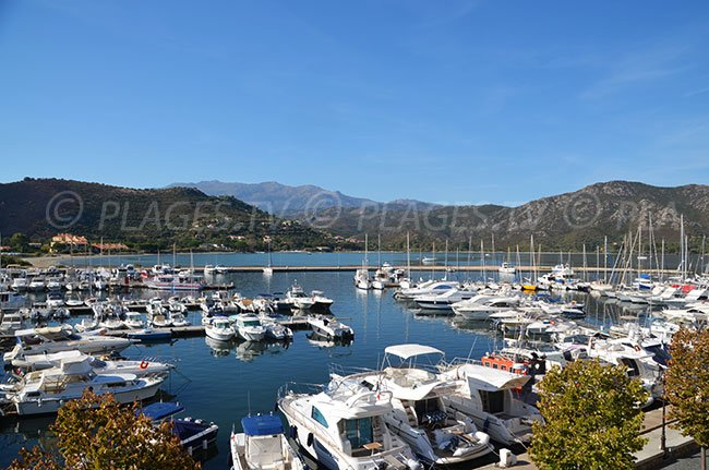 Harbor of St Florent in Corsica