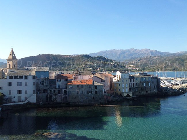 Old town of St Florent in Corsica