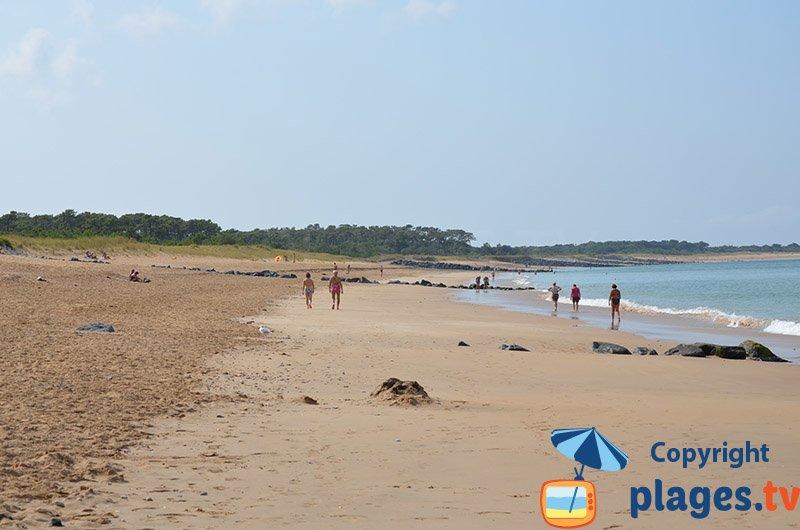 Belle plage des Saumonards à Oléron
