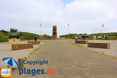 Monument Leclerc à St Martin de Varreville en Normandie