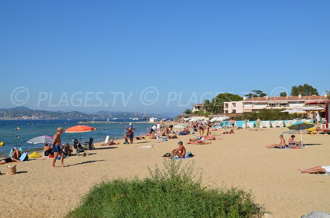 the most well-known beach in Saint-Tropez