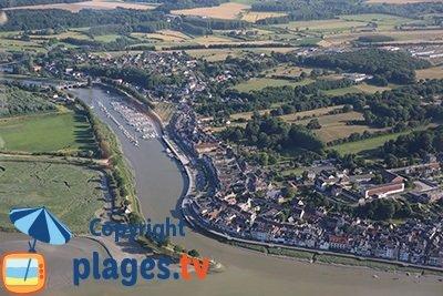 Vue aérienne de Saint Valery sur Somme