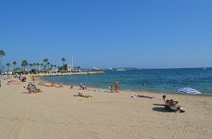 Beaches in Golfe Juan in France