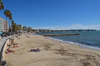 Juan les Pins, sa plage et le Cap en arrière plan