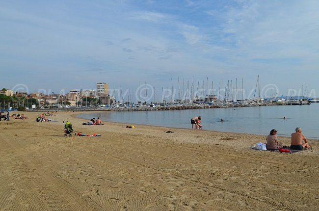 Beach in the city centre of Ste Maxime