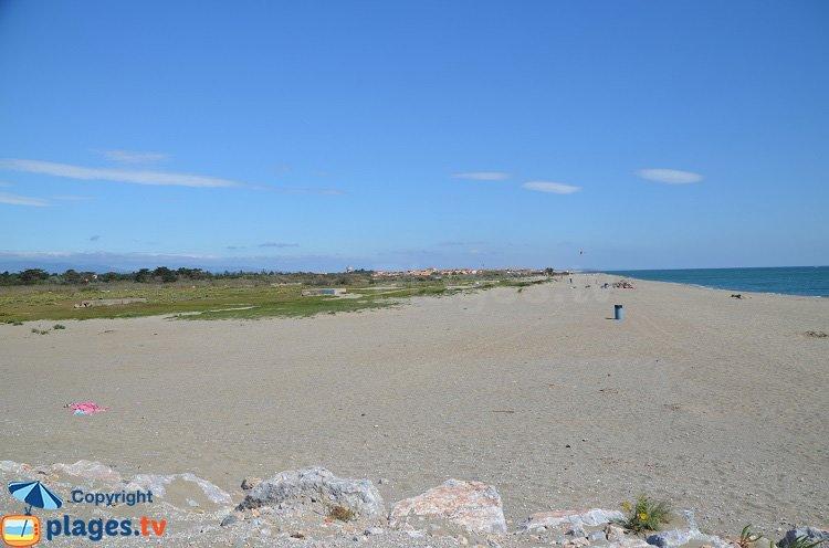 Plage nord de Torreilles - premier accès