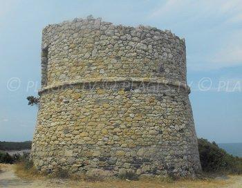 Diane tower in Aléria in Corsica