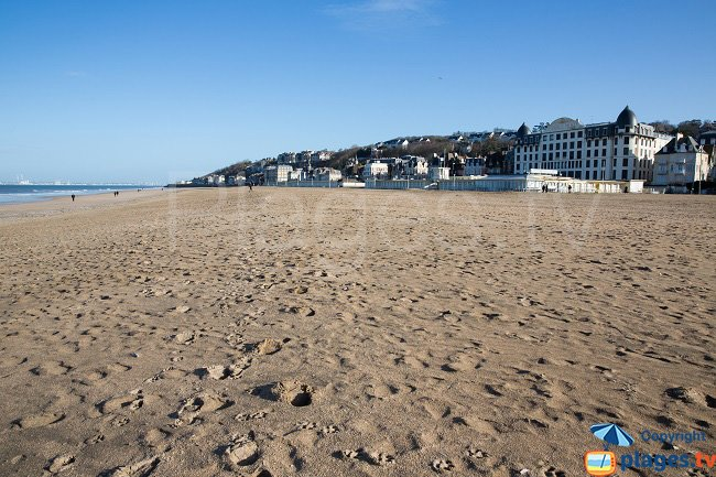 Trouville beach in winter