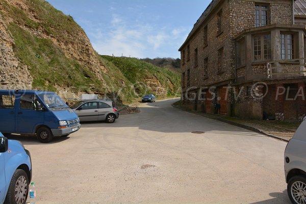 Parking de la valleuse de Bruneval - 76