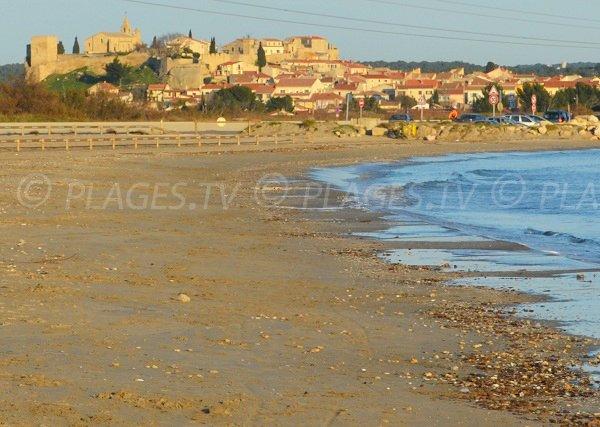 Fos Village - prise de vue depuis la plage