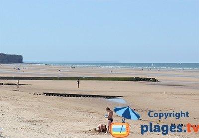 Beach in Vierville sur Mer - Normandy