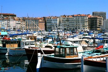 Old harbor of Marseille - France