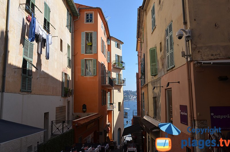 Old city of Villefranche sur Mer in France