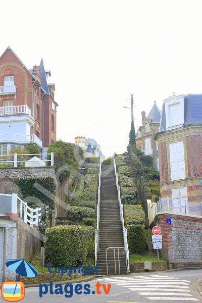 Accès de la ville haute de Villers sur Mer - Calvados