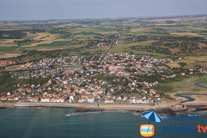 Front de mer d'Ambleteuse en vue aérienne