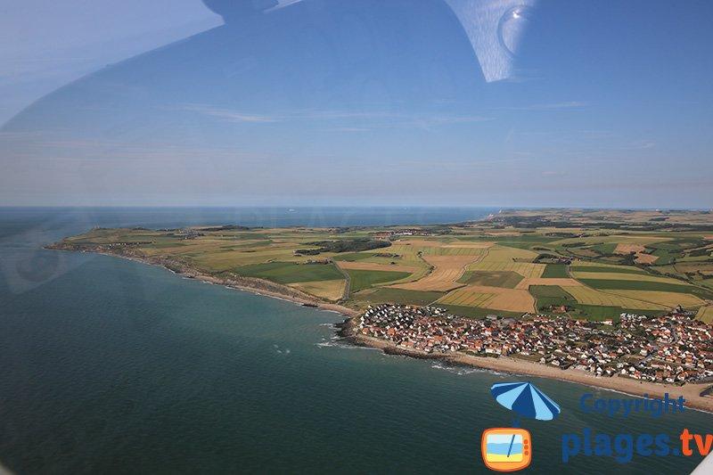 Ambleuse et le Cap Gris Nez en vue aérienne