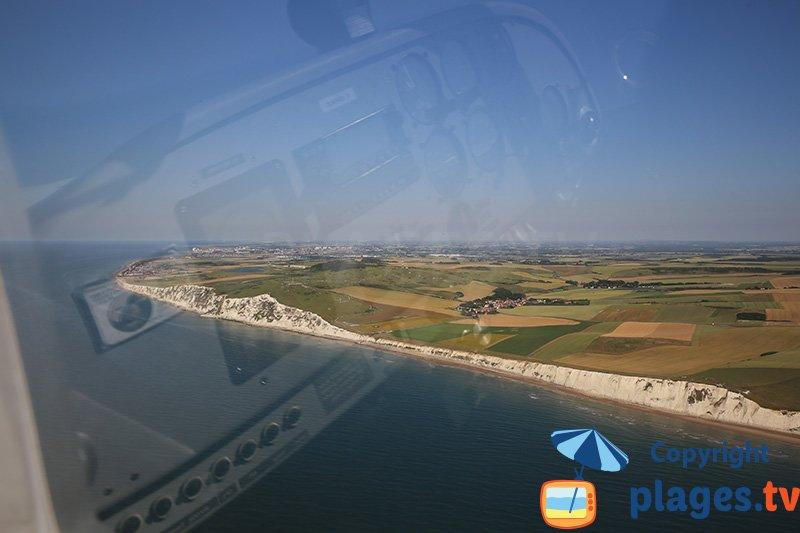 Vue aérienne du Cap Blanc Nez