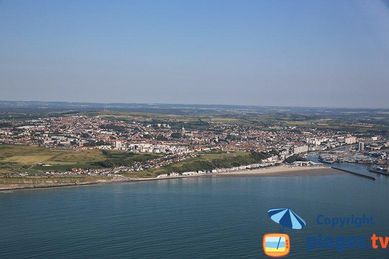 Vue aérienne de Boulogne sur Mer