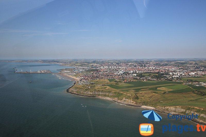 Vue aérienne des crancs autour d'Equihen