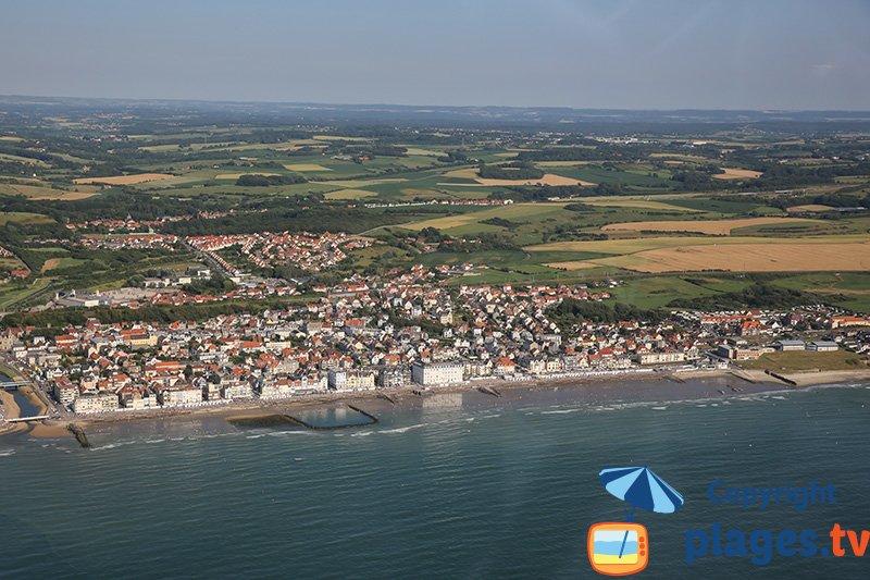 Vue aérienne de Wimereux