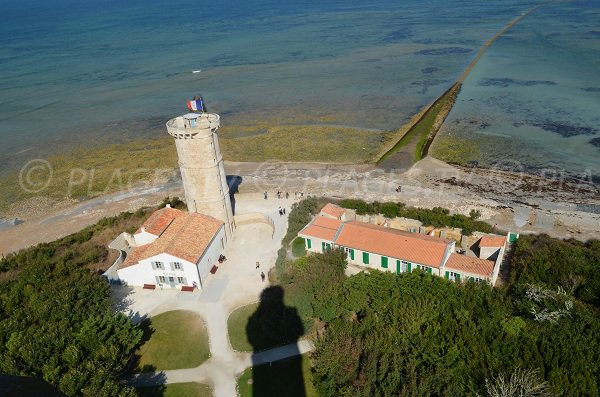 "View from the top of the ""Baleines"" lighthouse on the Ile de Ré"
