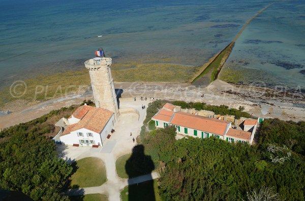 Vue depuis le phare de la Baleine sur l'île de Ré
