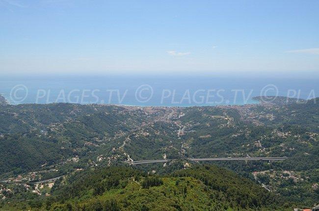Vue sur la Côte d'Azur depuis Ste Agnès