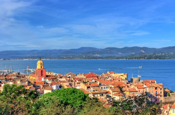 Saint Tropez gulf from the citadel
