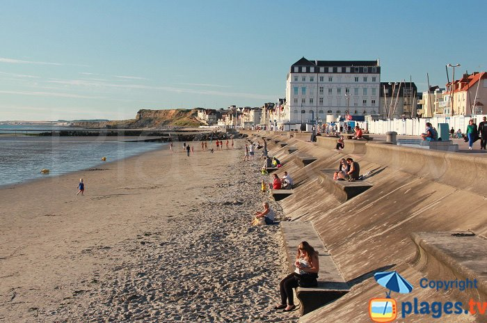 Sandy beach in Wimereux