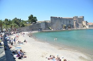 Plage de Port d'Avall - Collioure