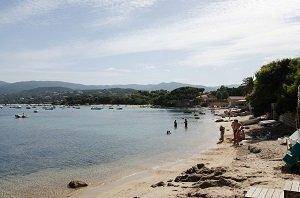 Marinella beach in Ajaccio - South Corsica - France