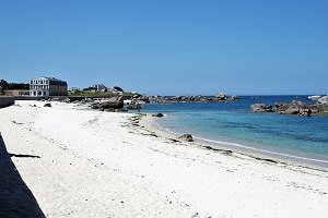 Spiaggia Les Chardons Bleus - Brignogan-Plage