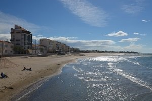 Beaches in Grau dAgde France 34 Seaside resort of Le Grau d