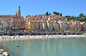 Beaches in Menton